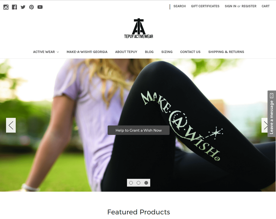Tepuy Activewear Website
